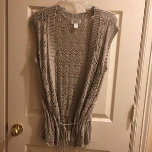 NWOT-LOFT open front sweater vest